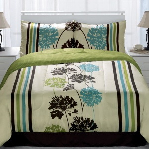 Idea Nuova Inc Miramar Lime 4 Piece Comforter Set