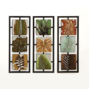 Rainforest Bamboo 3-D Metal Wall Art - Palm Trees Decor
